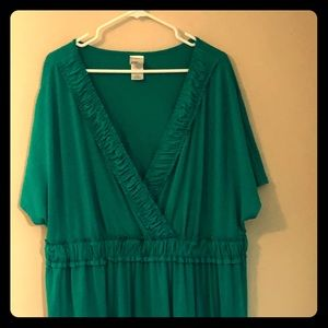 4x 26/28 Turquoise Casual Dress from Just My Size